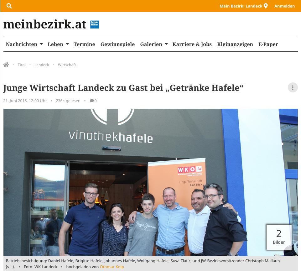 Beitrag auf www.meinbezirk.at